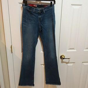 Guess Distressed High Waist Flare Jeans Sz 30